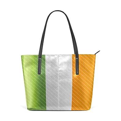 FAJRO Bandera de Irlanda bolso de mano de cuero: Amazon.es ...