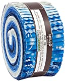 Winter's Grandeur 6 Evening Roll up 40 2.5-inch Strips Jelly Roll Robert Kaufman Fabrics RU-732-40