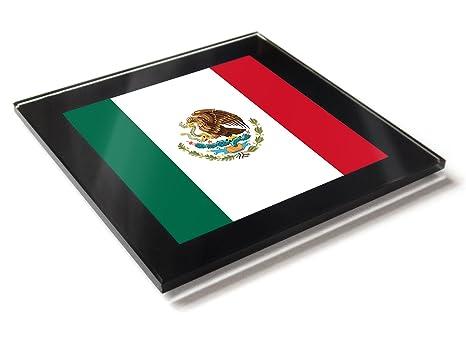Posavasos con diseño de la bandera de México en colores nacionales ...