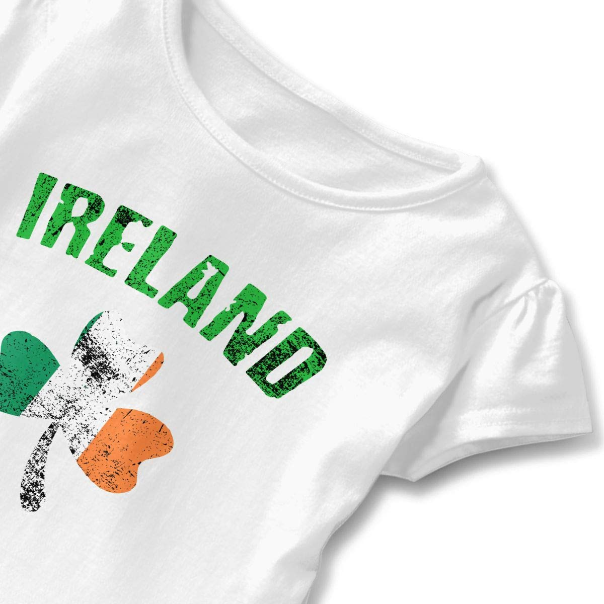 Patrick/â/€s Day Ireland Flag Shamrock Toddler Baby Girls Cotton Ruffle Short Sleeve Top Soft T-Shirt 2-6T St