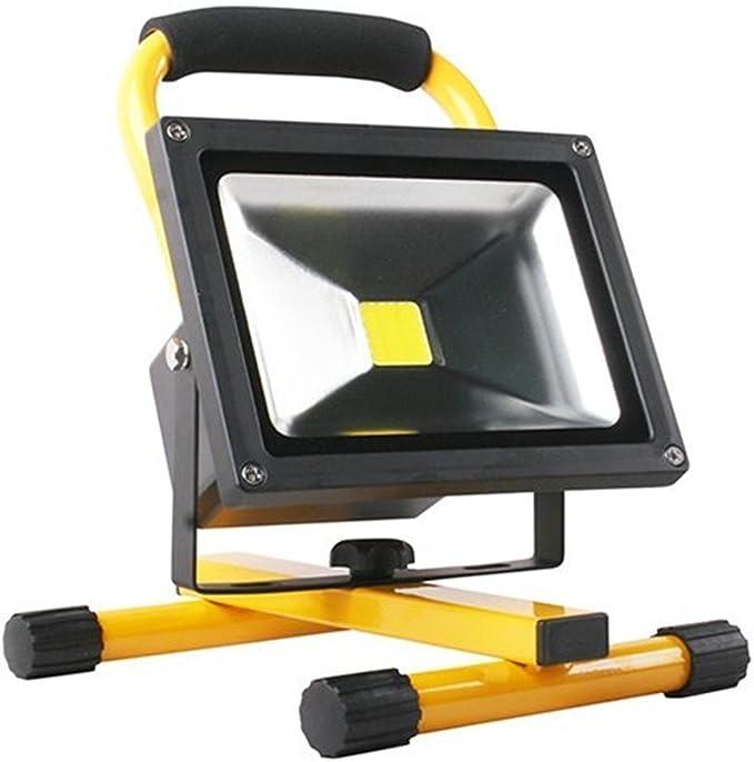 SAILUN 20W LED Foco proyector Blanco Cálido Recargable Lámpara ...