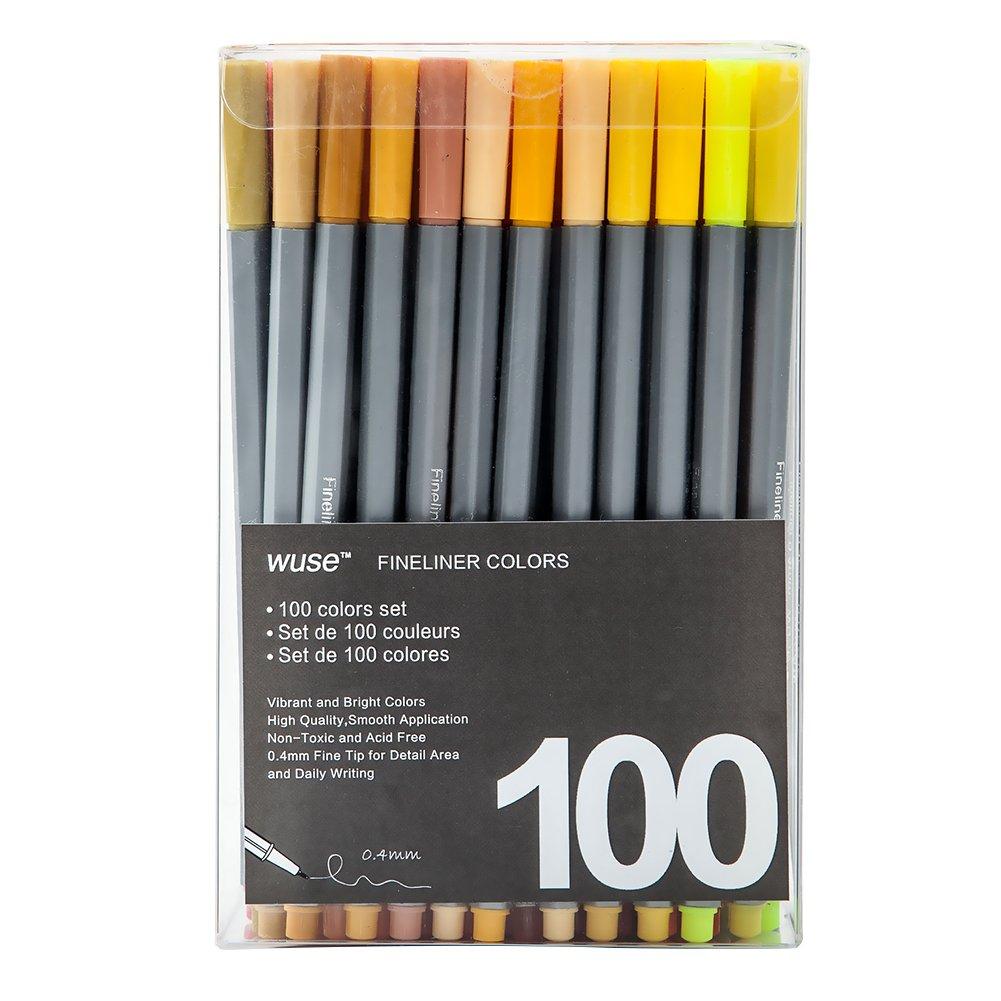 ieasysexy 100 Pieces 0.4mm Color Needle Pen Boxed Hook Line Pen Gel Pen Drawing Color Hook Pen Hand Account Cartoon Pen