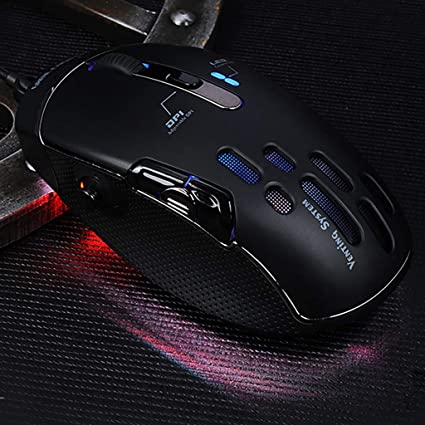 5D Gravity Rocker Ergonomic Adjustable 4000DPI11 Button RGB Color Light Led Light Design for Laptop Games and Work,Black WANGCHAO Wired Mouse Game Side Button