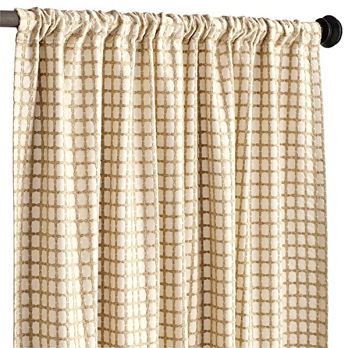 Pier 1 Imports Single Panel Textured Waffle Natural Lined 96