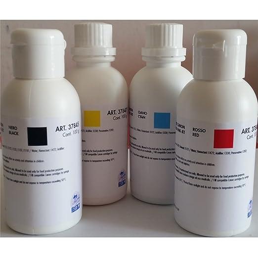 Colorante alimentario para impresora Ink-jet 100 g ambra S ...