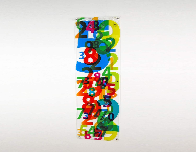 stampato Ivana cm.46x130 Slato appendiabiti da parete il plex