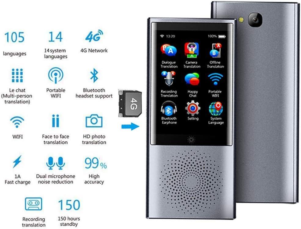 prise en charge de traducteur de langue intelligent pour 105 langues Traduction instantan/ée avec m/émoire tactile 4G 8 Go avec /écran tactile de 3,0 pouces Dispositif de traducteur de langue WiFi
