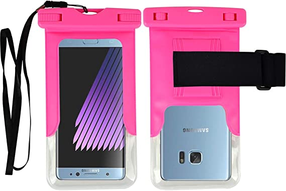 Amazon Com Waterproof Case For Samsung Galaxy S6 S6 Edge Galaxy Note 3 Galaxy Note 4 For Lg G3 G4 For Htc One M8 Desire 816w Pink