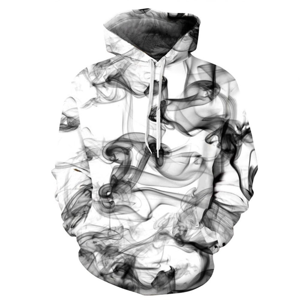 F style New Stylish 3D Sweatshirts Print Watercolor Dreamy Smoke Lines Thin Style Autumn Winter Hooded Hoodies