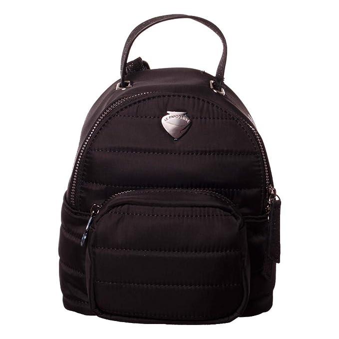Mini Zaino Pandorine Nero Donna Nylon Backpack Le Quality One Rd5waxnY