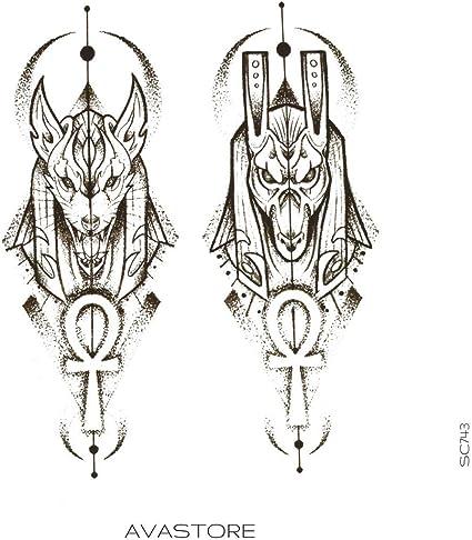 Tatuaje Temporal Anubis tatuaje efímero Anubis – avastore: Amazon ...