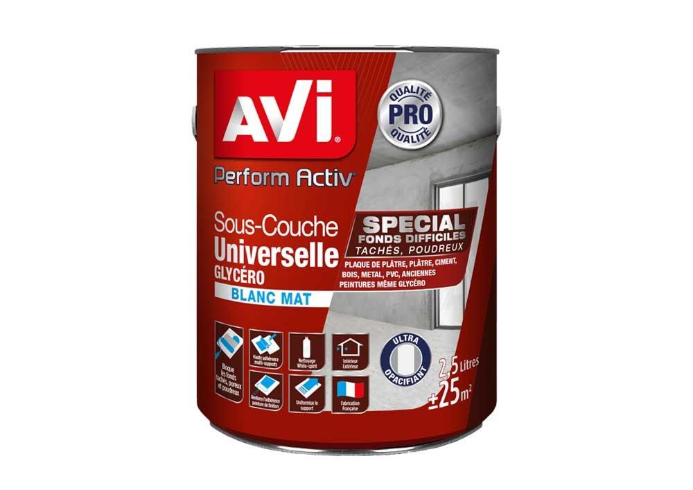Sous-couche Universelle Glycé ro, Avi Perform Activ - Blanc Mat, 2,5L PPG 387271