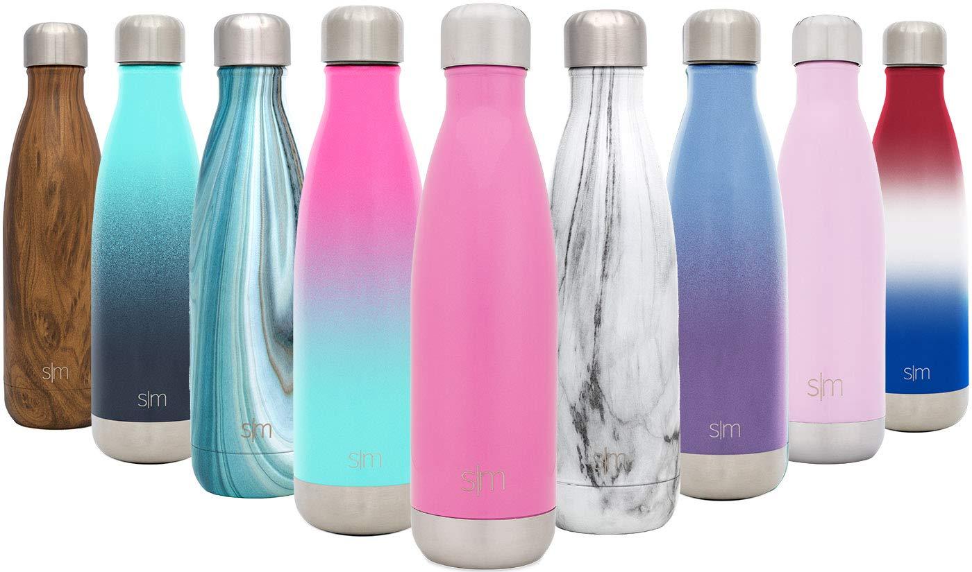 Simple Modern Wave 250ml Botella De Agua - Acero Inoxidable 18/8, Doble Pared