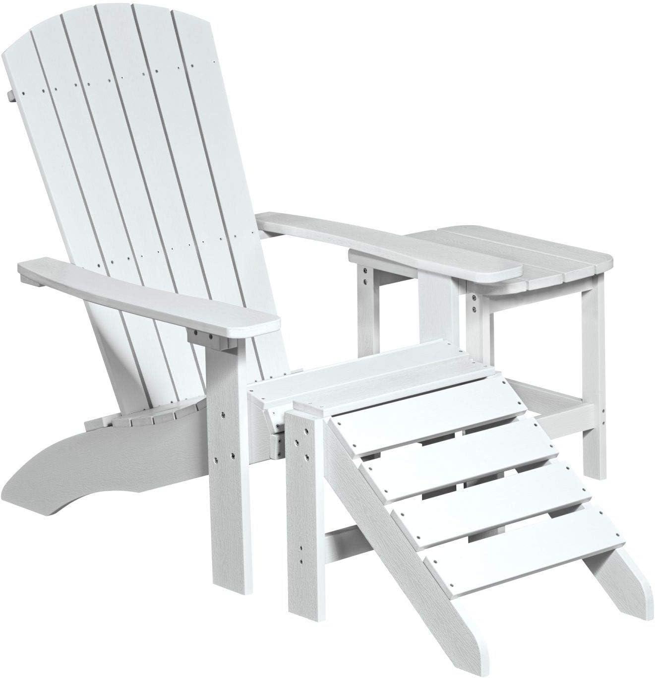 NEG Design Adirondack Stuhl Marcy Westport-Chair//Sessel aus Polywood-Kunststoff orange Holzoptik, wetterfest, UV- und farbbest/ändig