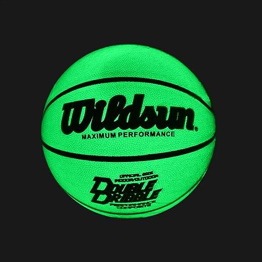 Easy-topbuy Balón De Baloncesto Iluminado, PU Ballon De Baloncesto ...