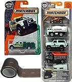 quad track tractor - Rescue Ranger Matchbox National Team 5-Pack & Land Survey Team Ford Super Duty #125 / Park Patrol Chevy Blazer / White Water Rescue / Tanker Truck / 4x4 Quad ATV / Horse Trailer + Road Tape
