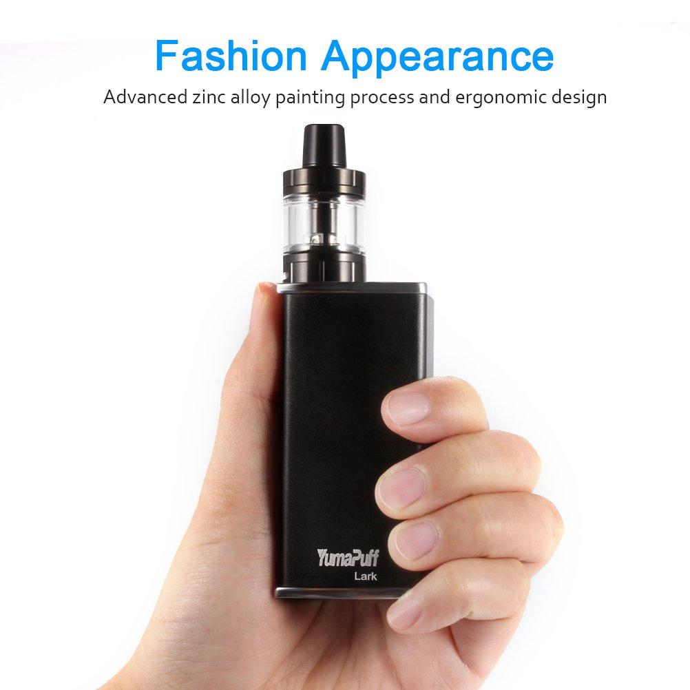 Cigarrillo Electrónico, YumaPuff 80W Lark Starter Kit, 2600mAh Batería, Pantalla OLED, Tope Atomizer 1.8ohm/0.6ohm, 2ml, E Cig Kit de E-Cigarrillo, ...