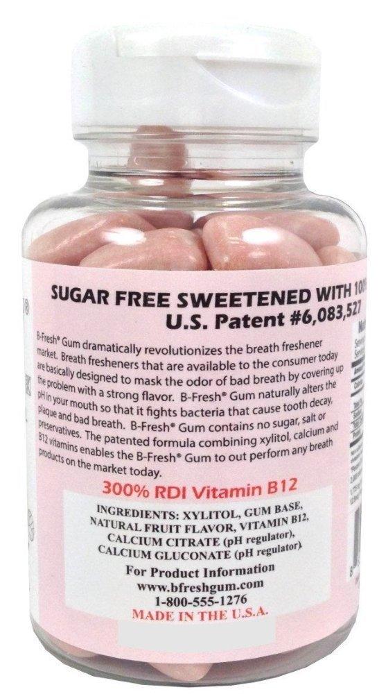 B-Fresh Bubble Gum Flavored Gum, 200 Sugar Free Pieces (Pack of 4) by B Fresh (Image #2)