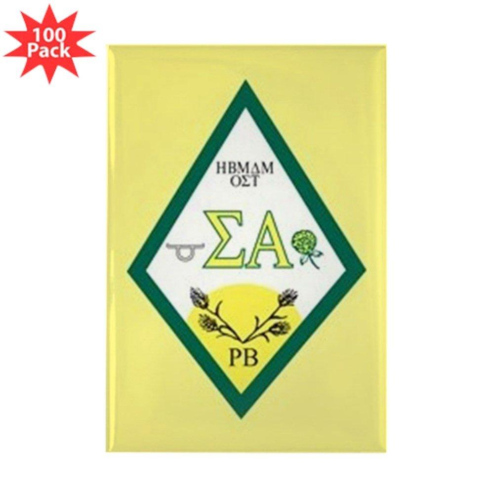 CafePress - Sigma Alpha Crest - Rectangle Magnet (100 pack)