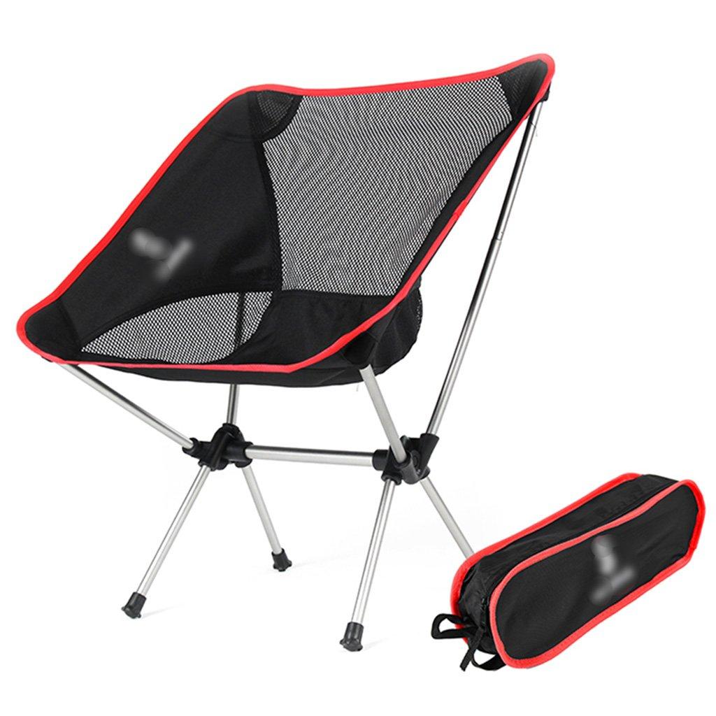 ZGL 旅行椅子 屋外折りたたみチェアポータブルビーチカジュアルチェア折りたたみ釣り用スツール背もたれ椅子屋外椅子の色オプション ( 色 : 赤 ) B07C7DPB51 赤 赤