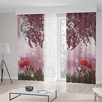 Amazon.com: Cortinas decorativas de lunares iPrint con ...