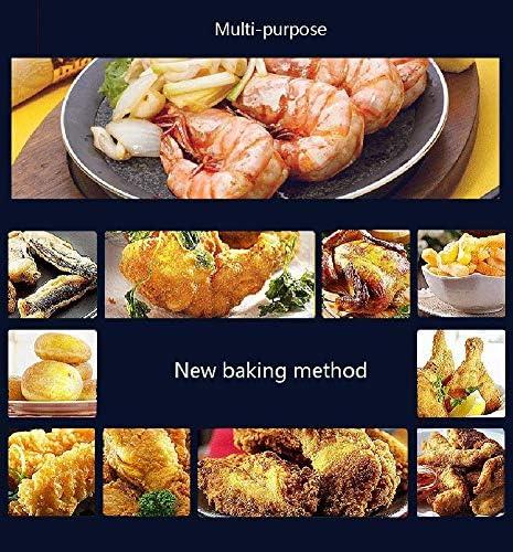 Air Fryer Hot Air friteuses Four, 7 présélections de cuisine, for la cuisson, rôtissage, cuisson et cuisson au gril, LED écran tactile, antiadhésive Pot, 1300W