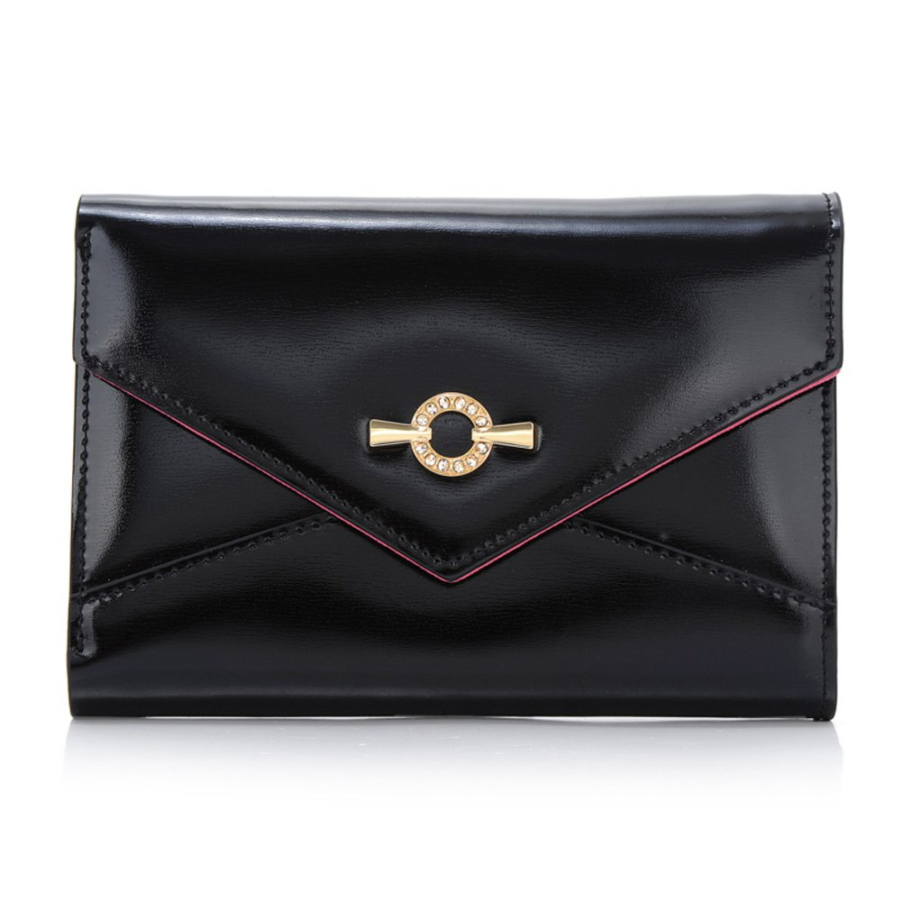 Lady 30 percent short leather purse/Bulk-Korean version of Velcro wallet card/Envelope bag-B