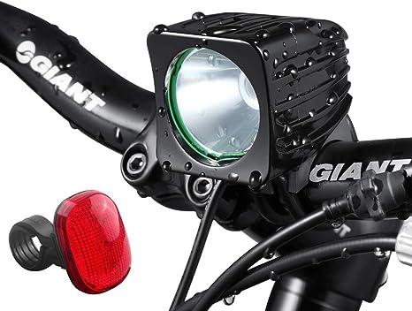 Luz de bicicleta recargable brillante de 1200lumens para ...