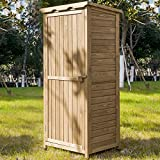 Leisure Zone Outdoor Wooden Garden Shed Lockers Fir wood with Workstation (Design #3)