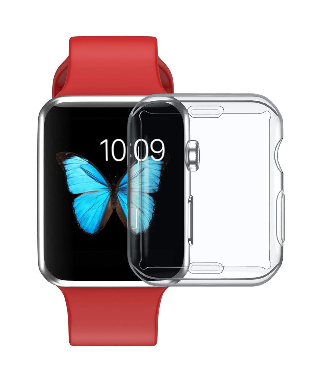 JP-DPP9 for Apple Watch Series 2/3 38mm/42mm Watch Case, Ultra-Slim TPU Protector Case Cover Shell Full Protective Edge to Prevent Bump,Scuffs (B 38MM)