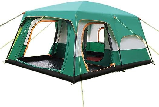 ZP Tienda de campaña, al aire libre espesar a prueba de lluvia dos habitaciones 3-4-5-8 personas tienda de campaña familiar huwaizhangpeng (Color : Verde) : Amazon.es: Juguetes y juegos