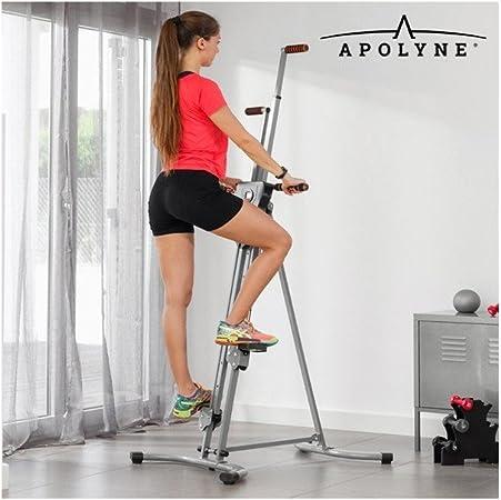 Apolyne - Escaladora Vertical de Fitness, Gris, Gimnasio en Casa