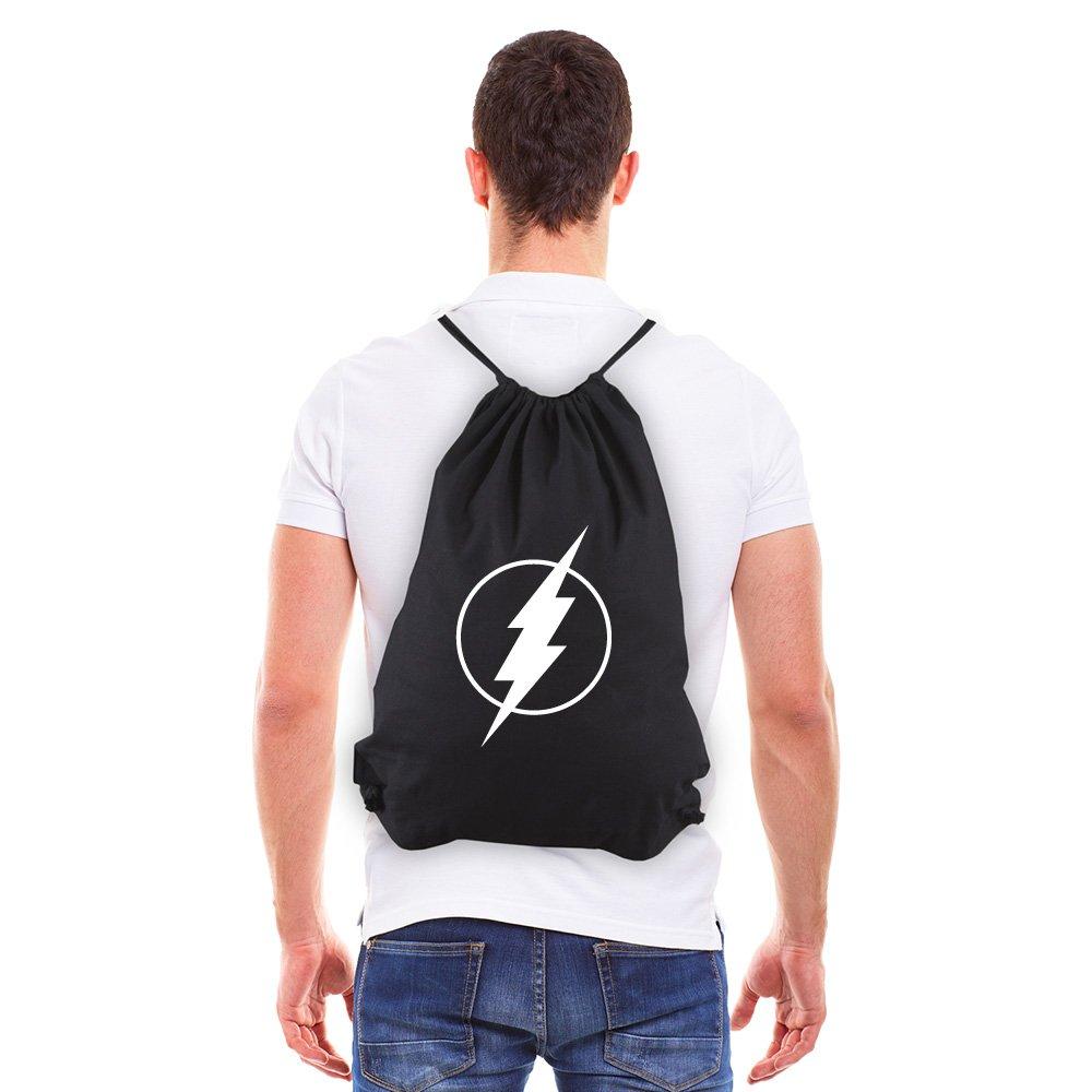 Flash Comic Superhero Eco-Friendly Reusable Drawstring Bag 6 oz. Cotton Canvas Gym Bag Backpack Sack Pack for Shopping Sport Yoga