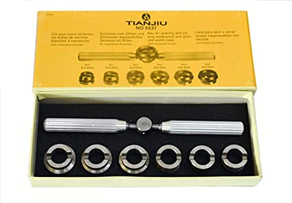 New Stainless Steel Rolex Screw Watch Back Case Opener Tool Set Watchmaker 5537 For ROLEX TUDOR