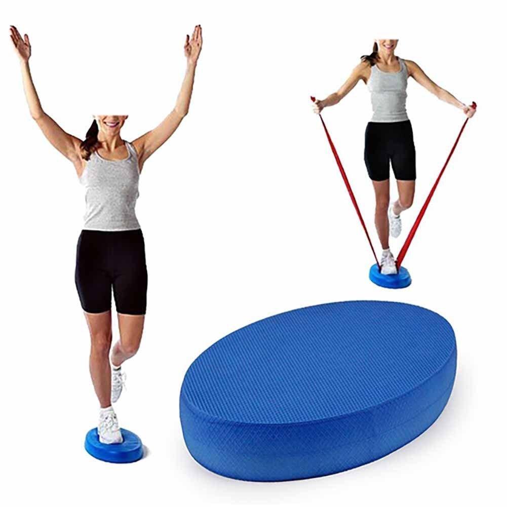 FidgetFidget Yoga Foam Board Balance Pad Gym Fitness Exercise Cushion Blue Oval Cushion New