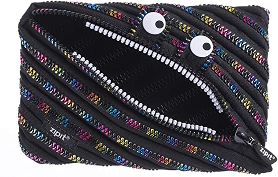 Zipit Monster Jumbo - Estuche para lápices, diseño de arcoíris, Color Negro: Amazon.es: Equipaje