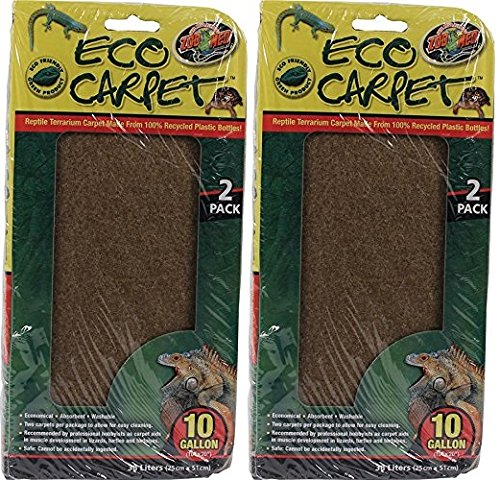 - Zoo Med (2 Pack) Reptile Cage Carpet for 10 Gallon Tanks, 20 x 10-Inches (2 ct. Per Pack)