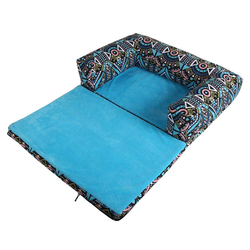 JINGC Pet Bed, Cuccia Cat Lettiera Cuscino Letto, Impermeabile Oxford Cloth Divano Rimovibile (60X40x13 Cm)