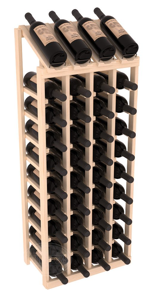 Wine Racks America Ponderosa Pine 4 Column 10 Row Display Top Kit. 13 Stains to Choose From! by Wine Racks America