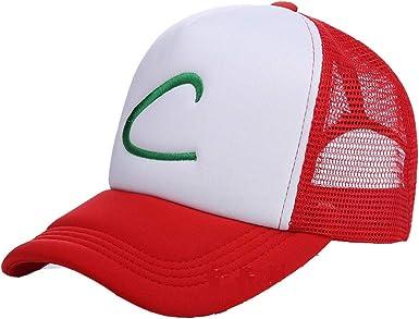 Pokemon Ash Ketchum Cap Gorra de béisbol para Cosplay Gorras de ...