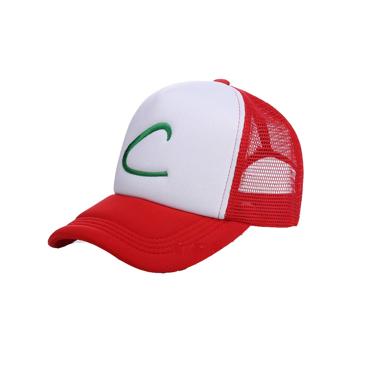 the latest 943ad 91f70 Amazon.com  Pokemon Ash Ketchum Unisex-Adult Trucker Hat -One-Size  Redl White  Clothing