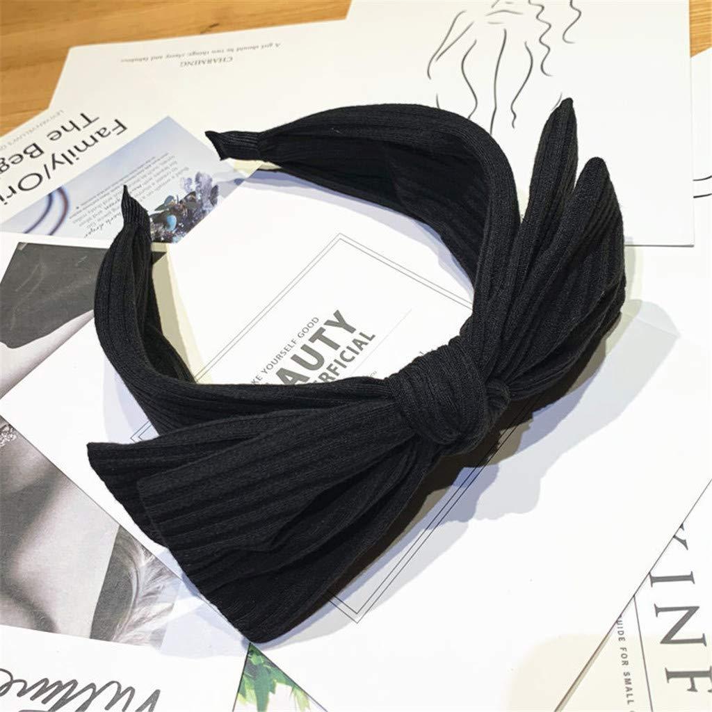 LABIUO 6 Couleurs Bandeau Femme Serre-t/êtes Large N/œud Bandeau Cheveux Femme Fille Cheveux Bandeau Accessoires Elastique Tissu pour F/ête D/écoration