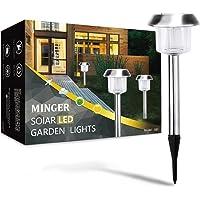 6-Pack Minger LED Solar Garden Lights Outdoor Landscape Lighting for Pathway Lawn