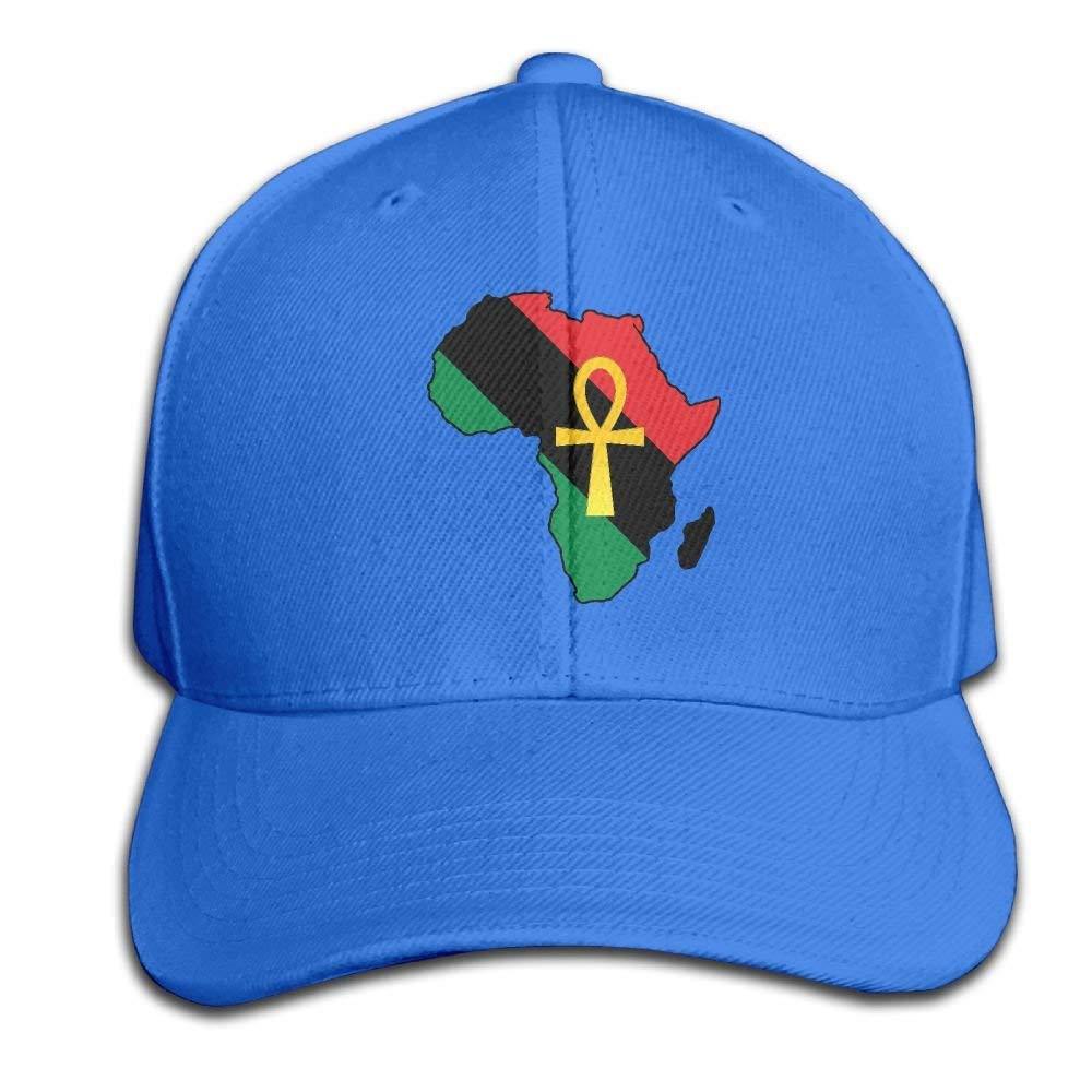 Amazon.com  Wiyeres Ankh African Colored Africa Snapback Sandwich Cap  RoyalBlue Baseball Cap Hats Adjustable Peaked Trucker Cap  Clothing d7e6521d3e1