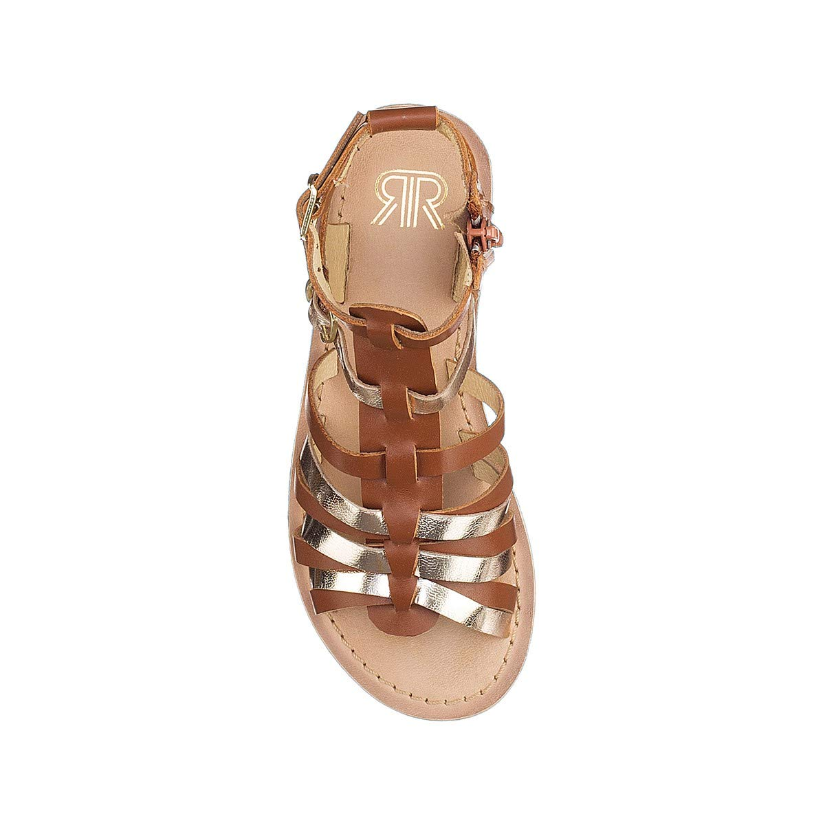 Sizes 8.5-6 Brown Size 29 La Redoute Collections Big Girls Leather Gladiator Sandals