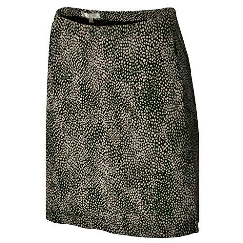 Monterey Club Ladies Dry Swing Mini Cheetah Pull-on Knit Skort #2885 (Ivory, Small)