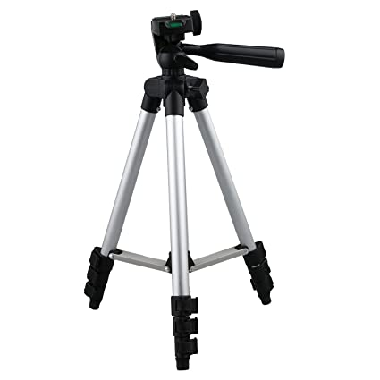 fe661db2f3e Tripod-3110 Portable Adjustable Aluminum Lightweight Camera Stand with  Three-Dimensional Head   Quick
