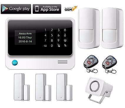 Kit alarma GS90B inalámbrica GSM Y WiFi para hogar casa o ...