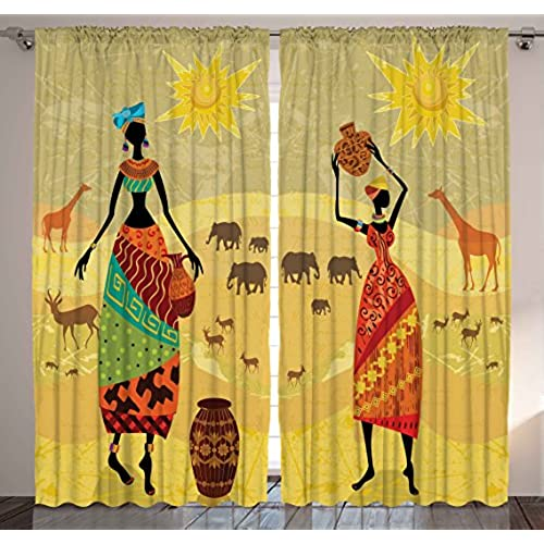 Attractive African Curtains: Amazon.com FZ98