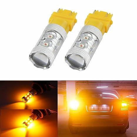 2pcs Aaron ámbar 3157 3156 3057 60 W Epistar LED bombillas para Blinker señales de giro